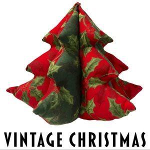 VTG Christmas Tree Plush Handmade Mistletoe